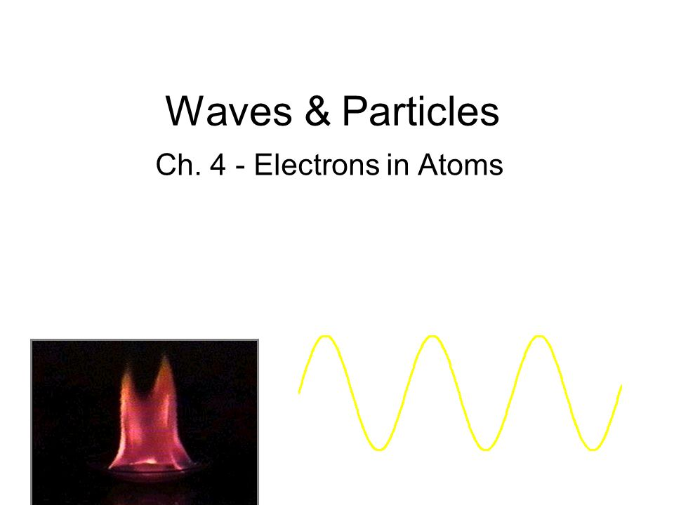 Waves & Particles Ch. 4 - Electrons in Atoms