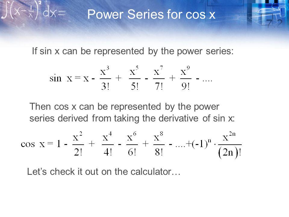 Ch 9 1 Power Series Calculus Graphical, Numerical, Algebraic by