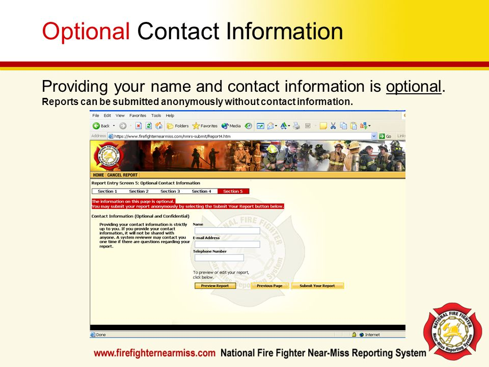 Optional Contact Information