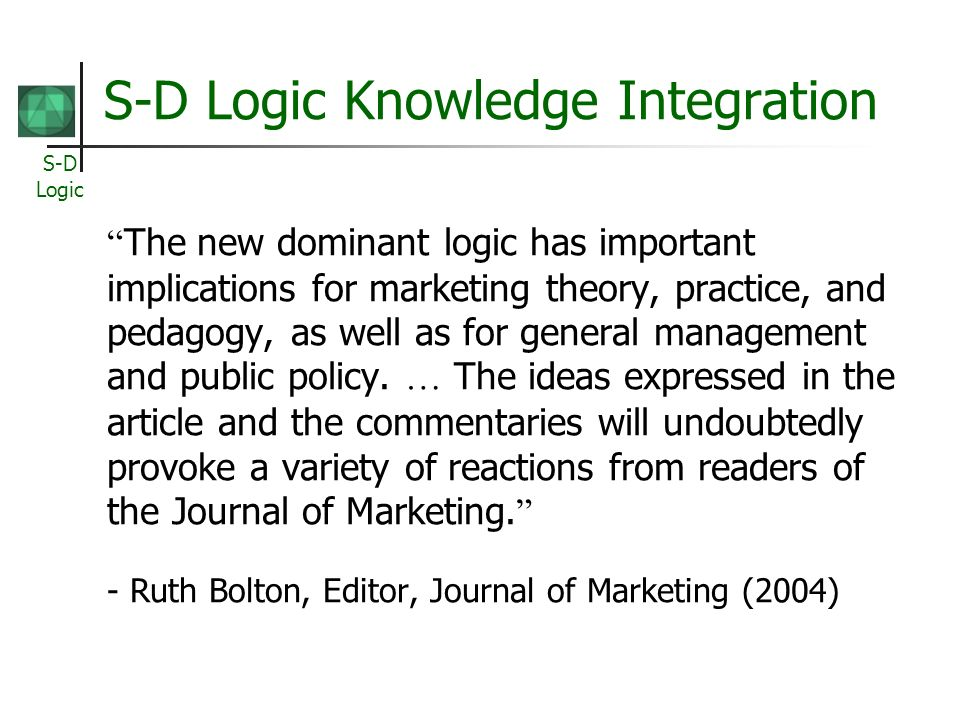 S-D Logic Knowledge Integration