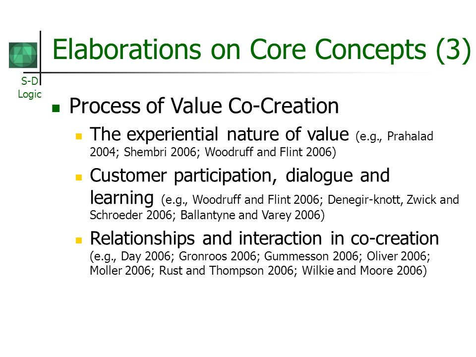 Elaborations on Core Concepts (3)
