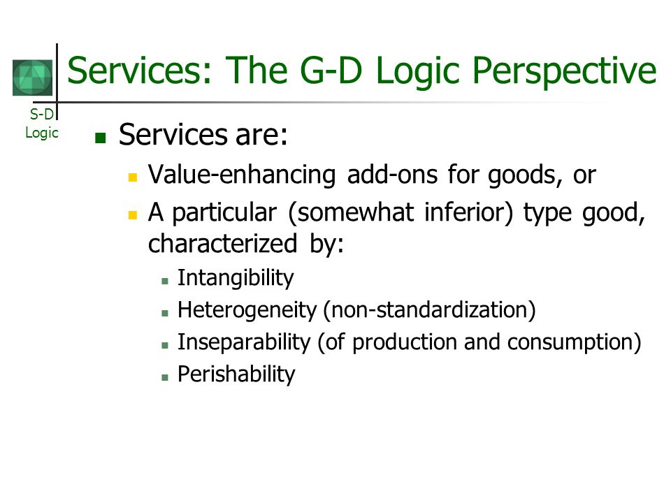 Services: The G-D Logic Perspective