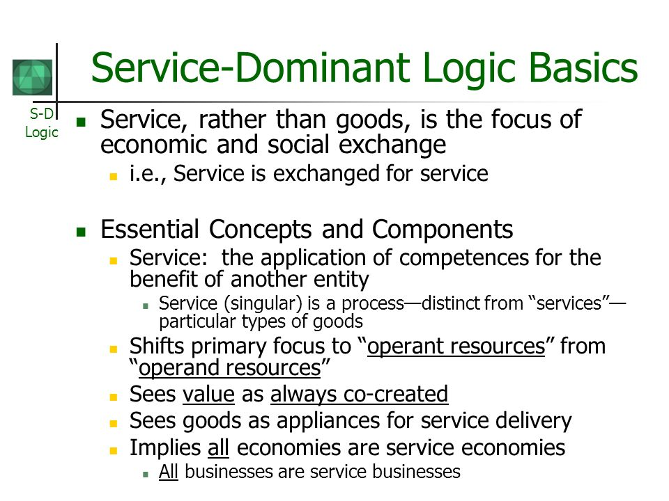 Service-Dominant Logic Basics