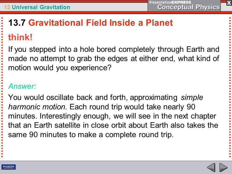 13.7 Gravitational Field Inside a Planet