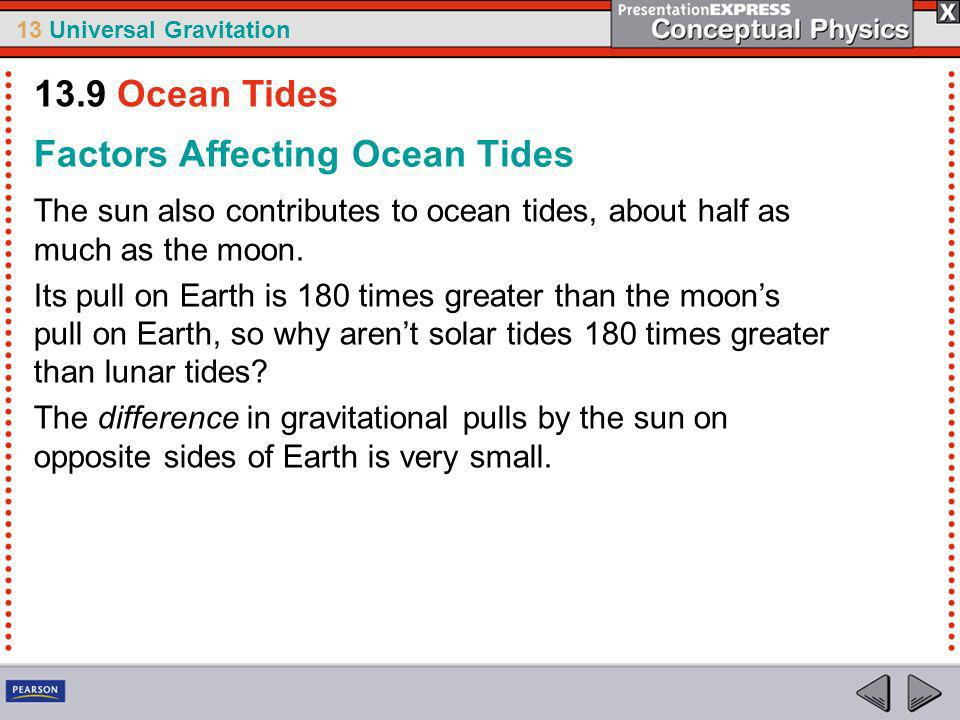 Factors Affecting Ocean Tides