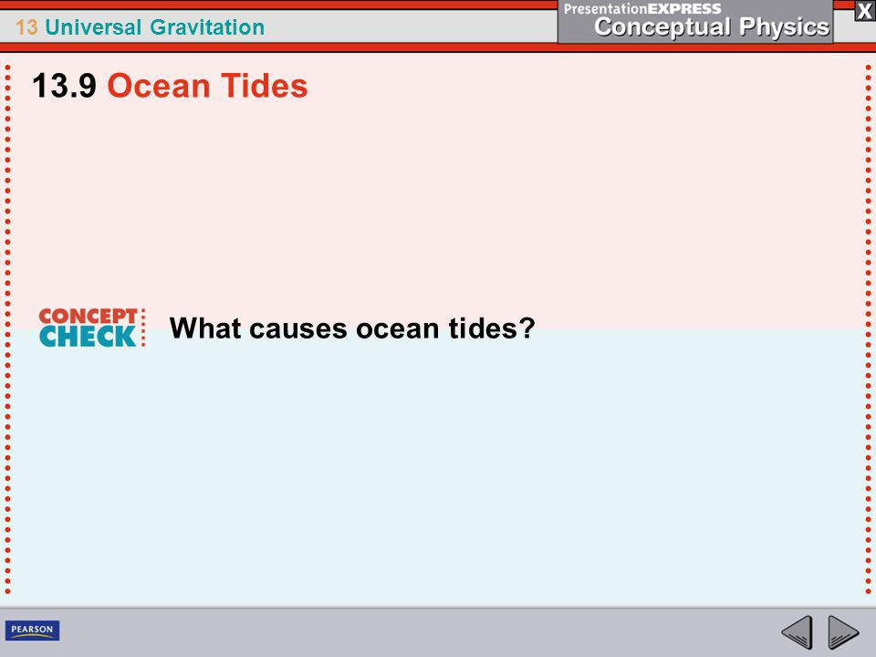 13.9 Ocean Tides What causes ocean tides