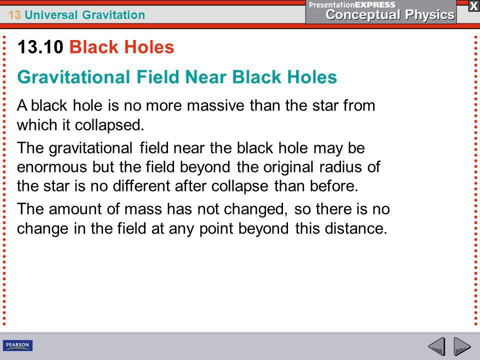 Gravitational Field Near Black Holes