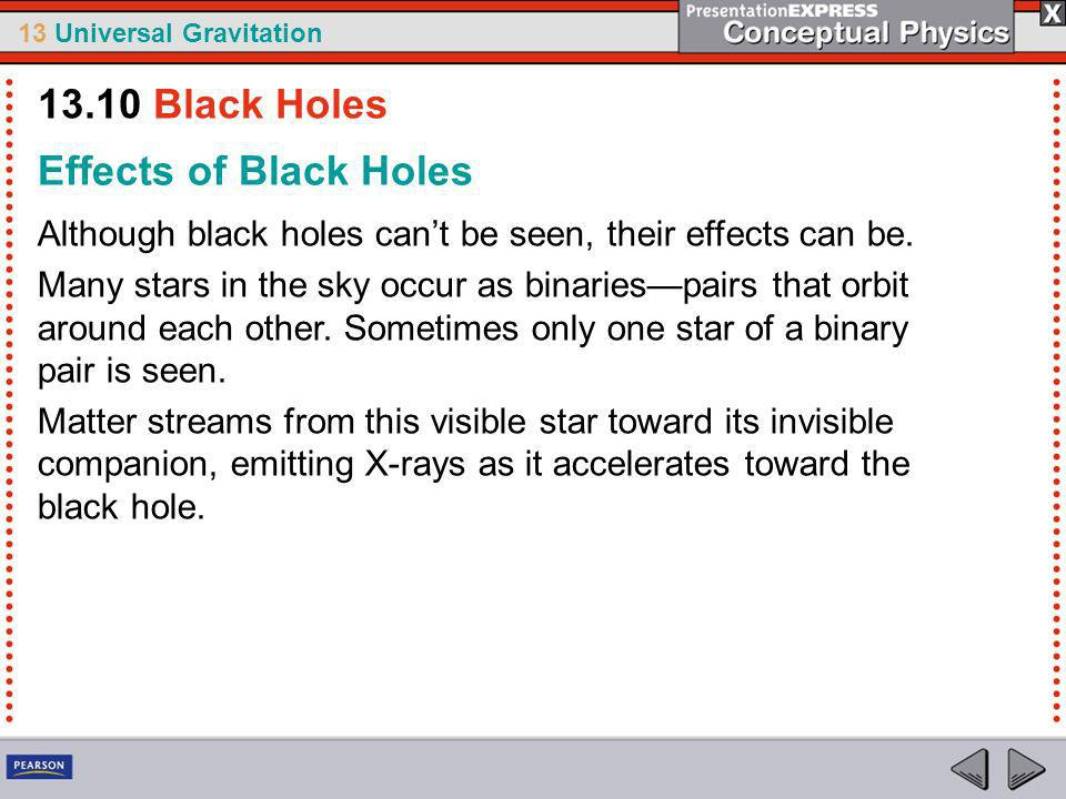 13.10 Black Holes Effects of Black Holes