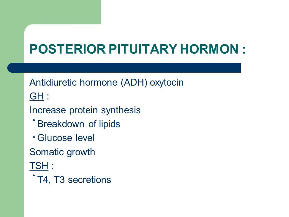 POSTERIOR PITUITARY HORMON :