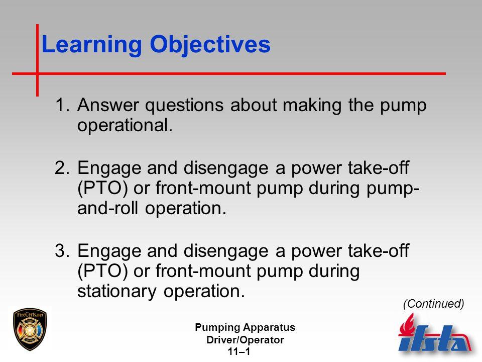 ifsta pumping apparatus study guide pump ops