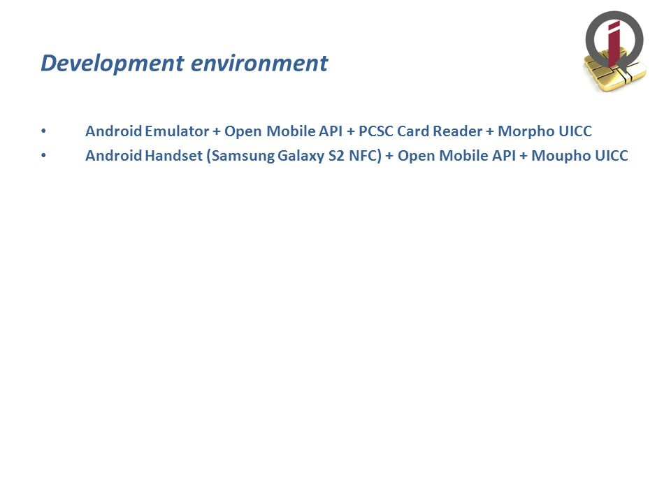 UICC UICC is a smart card used in mobile terminals in GSM