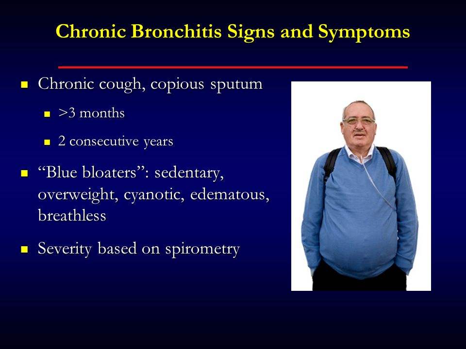 Chronic Bronchitis Signs and Symptoms