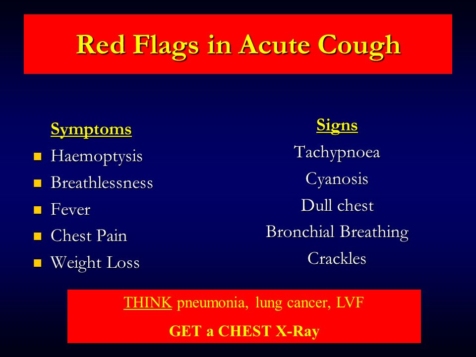 Red Flags in Acute Cough