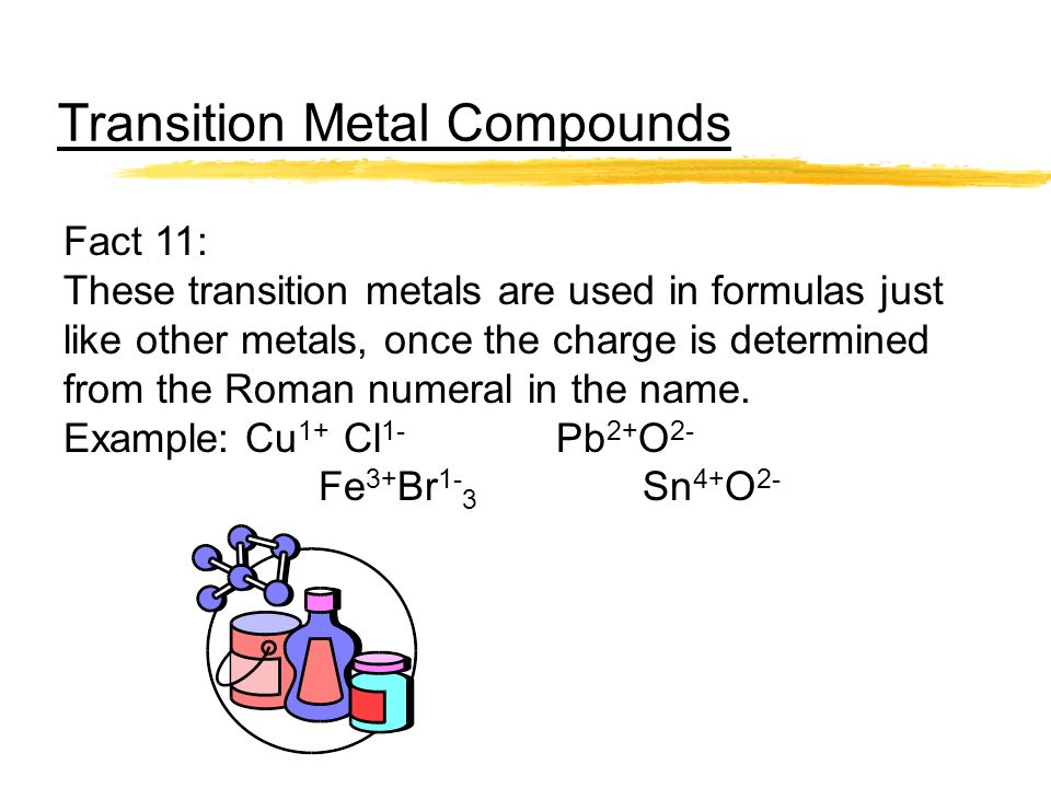Transition Metal Compounds