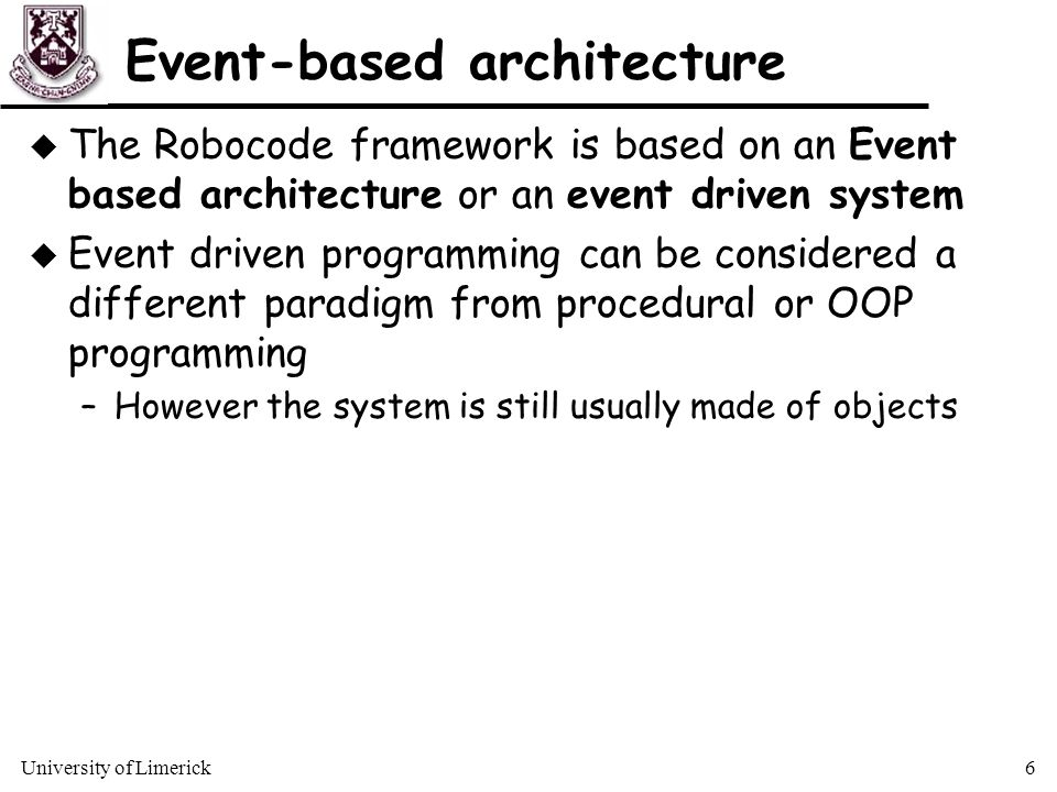 How does Robocode work? In short it is a framework - ppt
