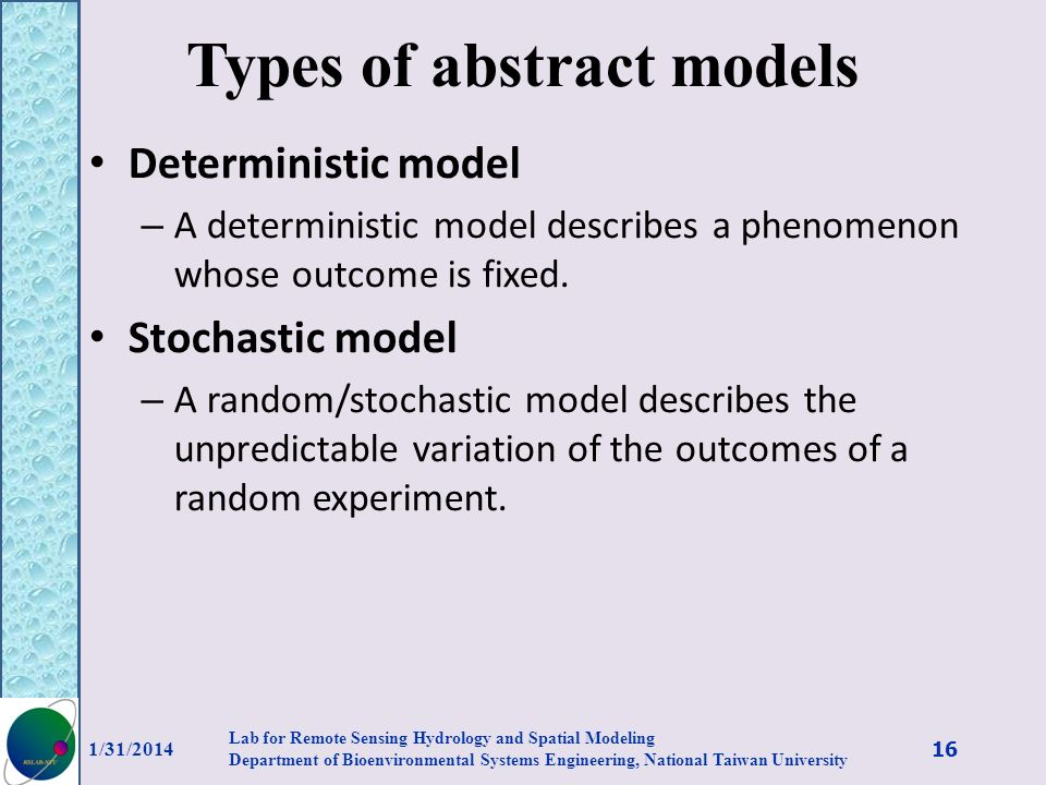 Types of abstract models