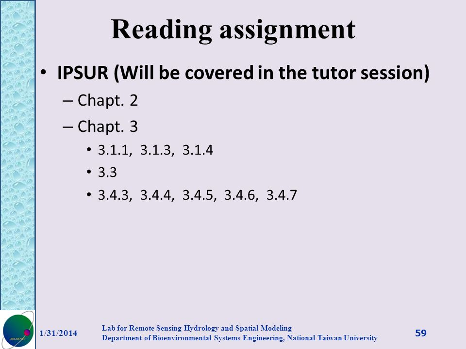 Reading assignment IPSUR (Will be covered in the tutor session)