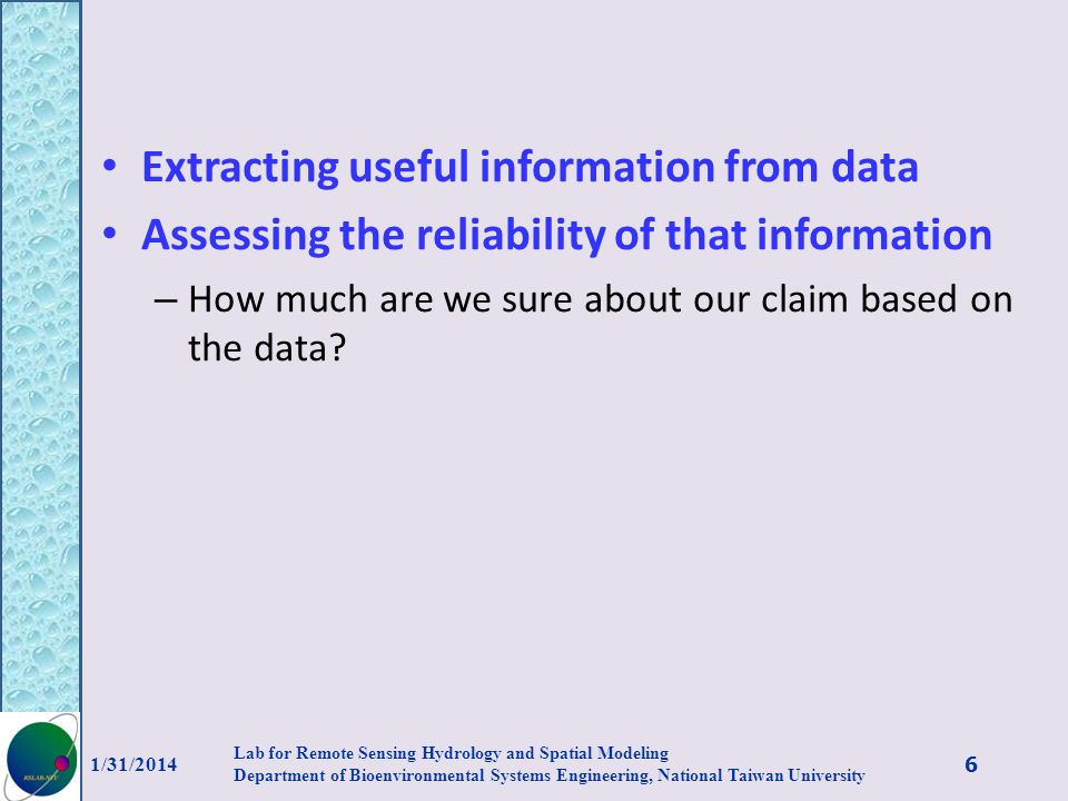 Extracting useful information from data