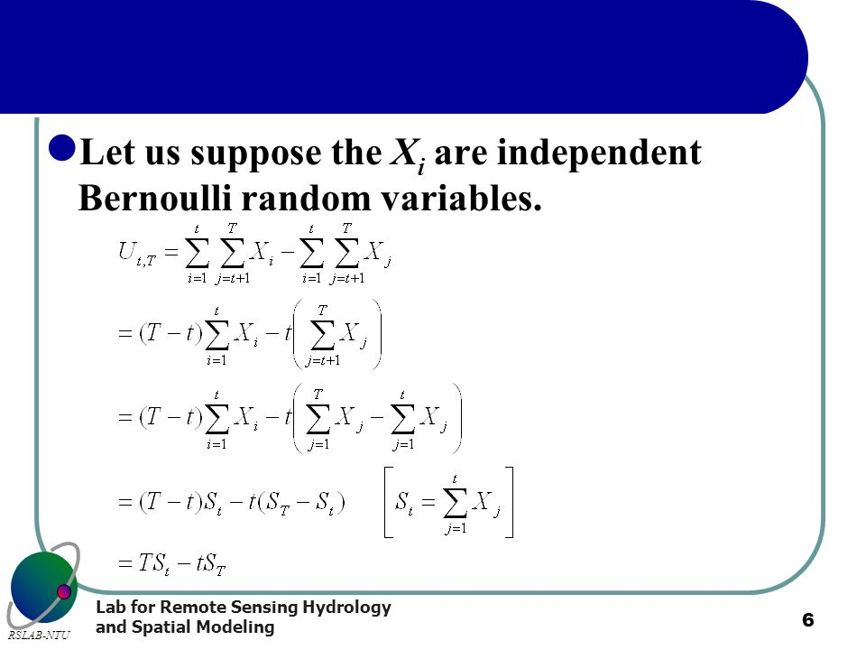Let us suppose the Xi are independent Bernoulli random variables.