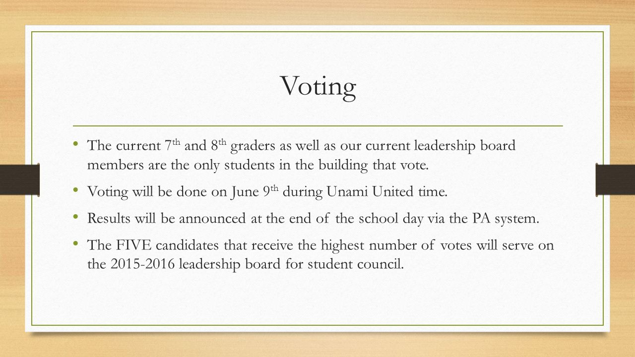 Student Council Elections - ppt download