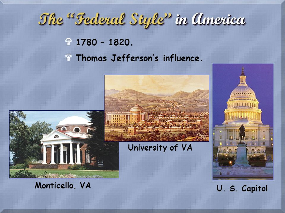 The Federal Style in America