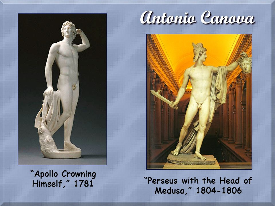 Antonio Canova Apollo Crowning Himself, 1781