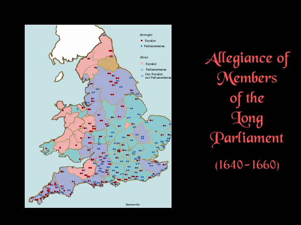 Allegiance of Members of the Long Parliament