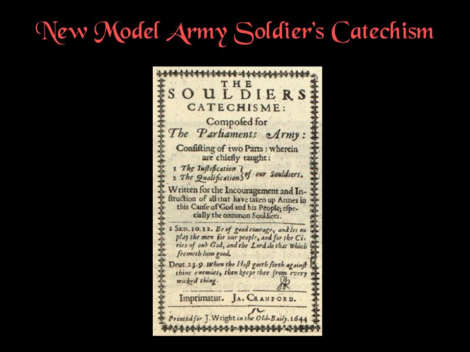 New Model Army Soldier's Catechism