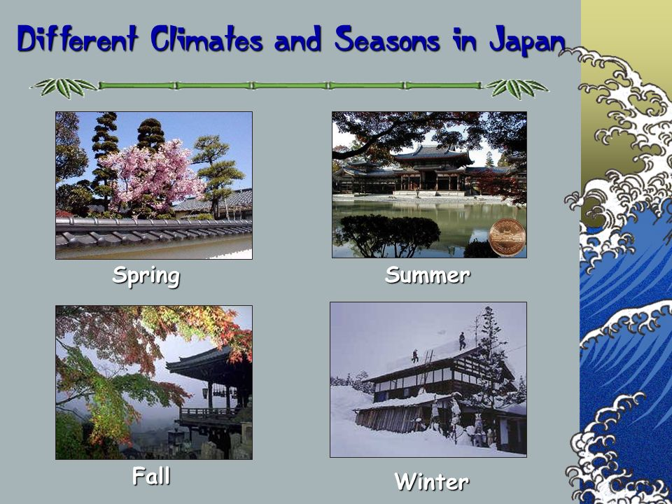 Different Climates and Seasons in Japan