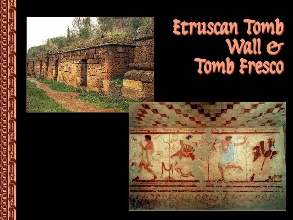 Etruscan Tomb Wall & Tomb Fresco