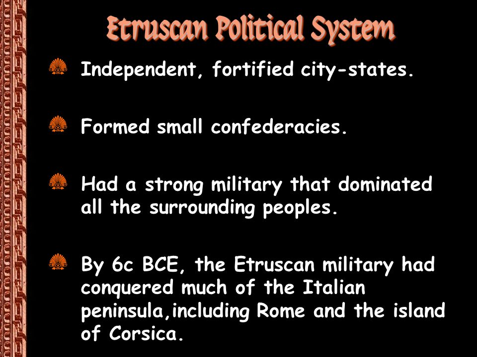 Etruscan Political System