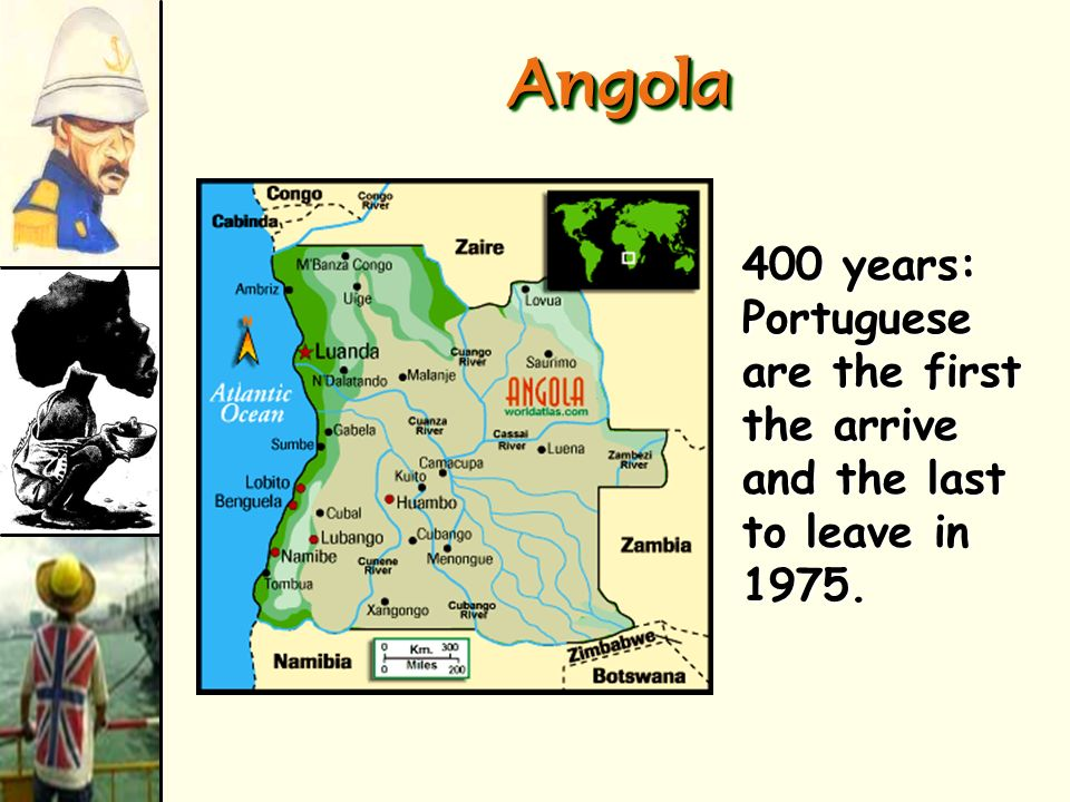 Angola 400 years: Portuguese are the first the arrive and the last to leave in 1975.