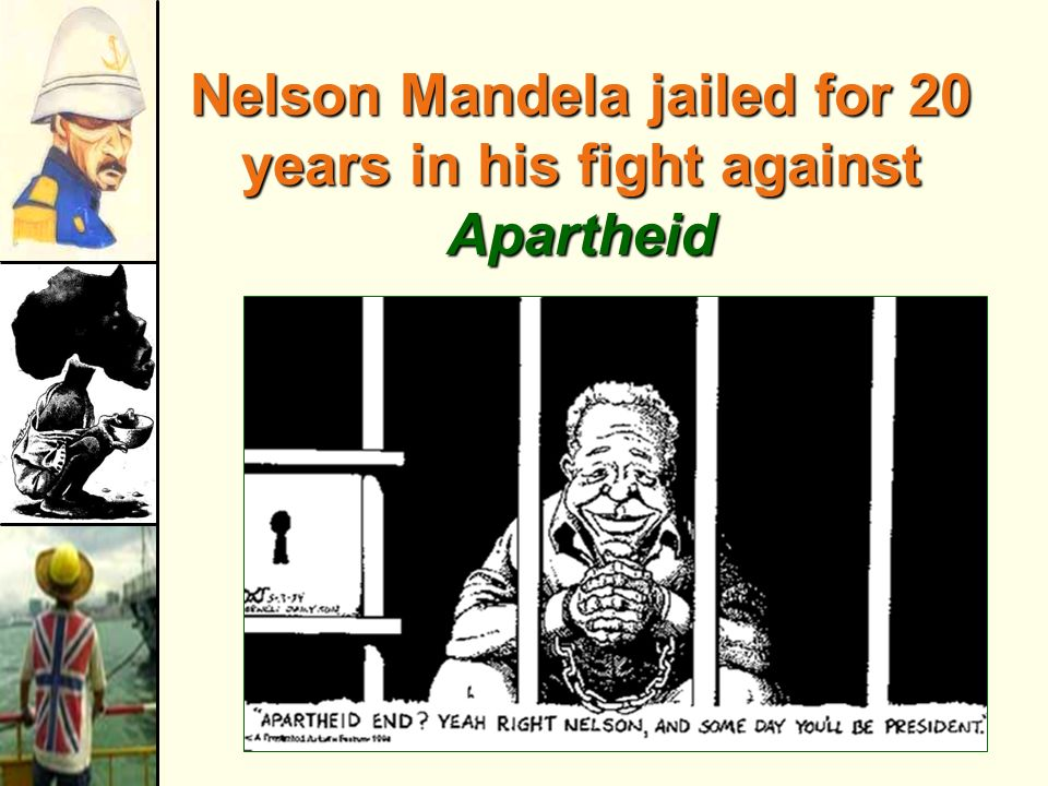 Nelson Mandela jailed for 20 years in his fight against Apartheid