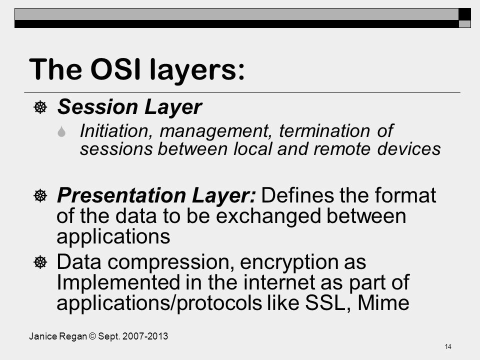 The OSI layers: Transport