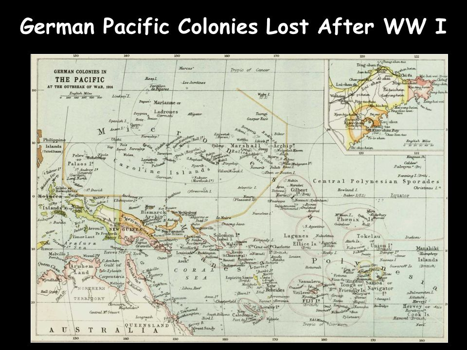 German Pacific Colonies Lost After WW I