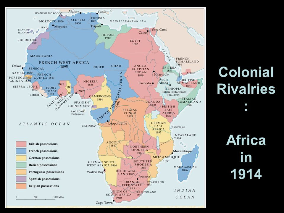 Colonial Rivalries: Africa in 1914