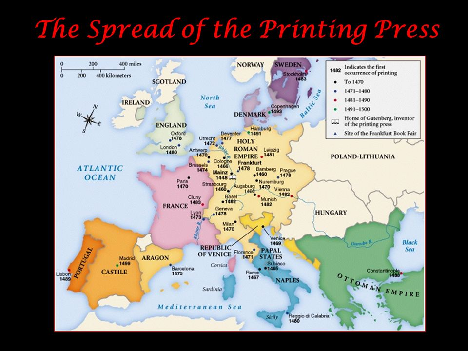 The Spread of the Printing Press