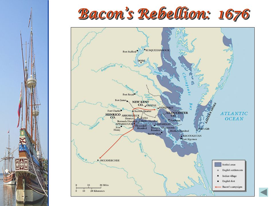 Bacon's Rebellion: 1676