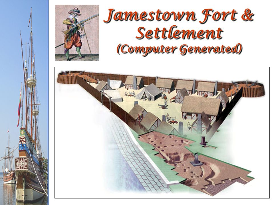 Jamestown Fort & Settlement (Computer Generated)