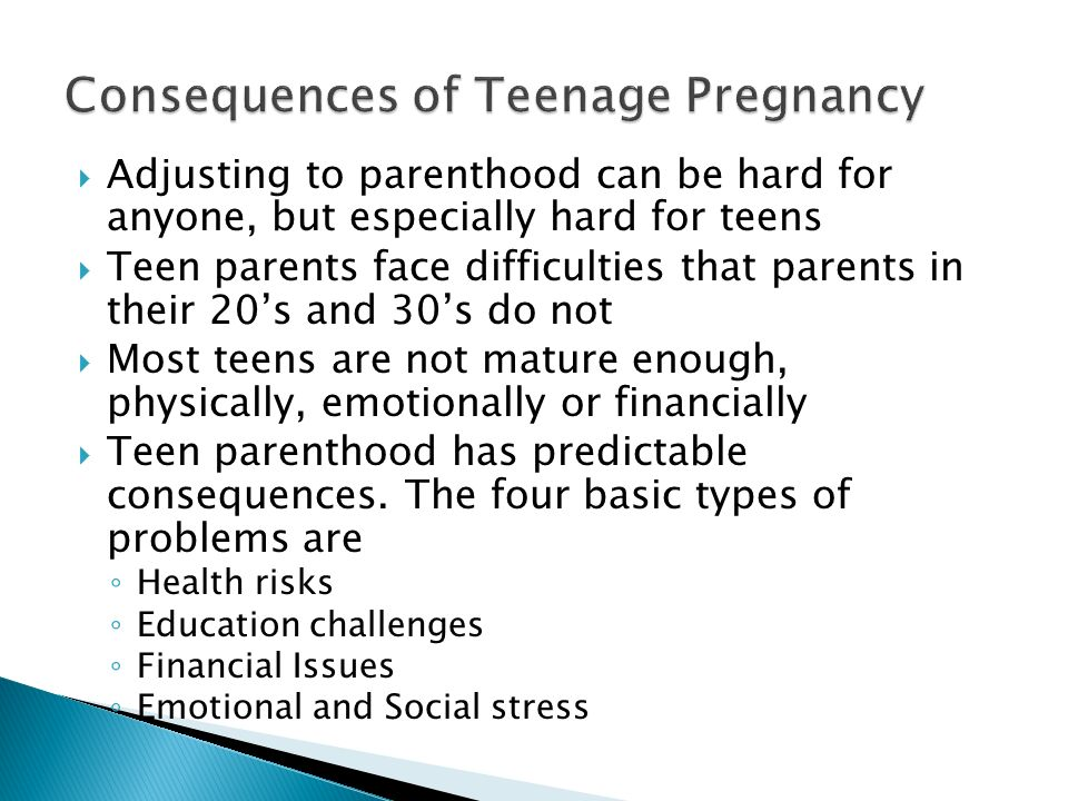 Consequences of Teenage Pregnancy