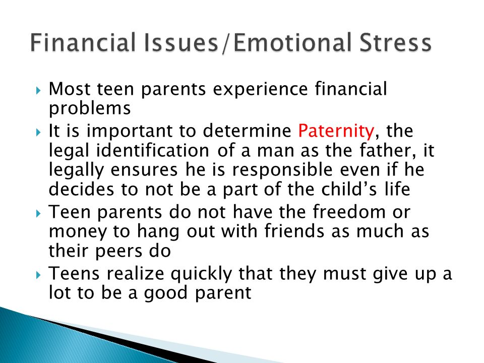 Financial Issues/Emotional Stress