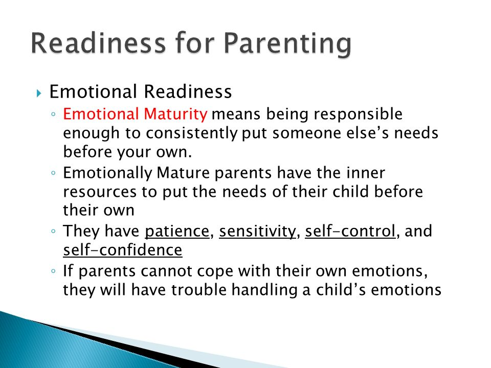 Readiness for Parenting