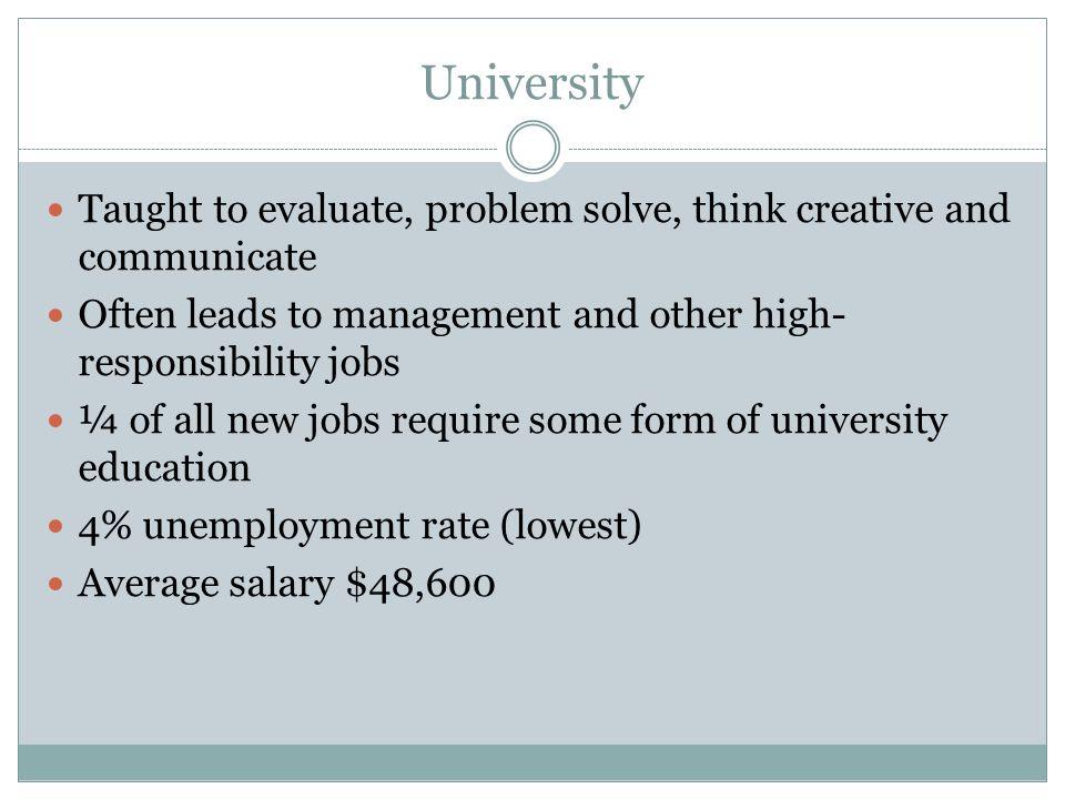 Educationwork pathways ppt video online download 21 university malvernweather Choice Image