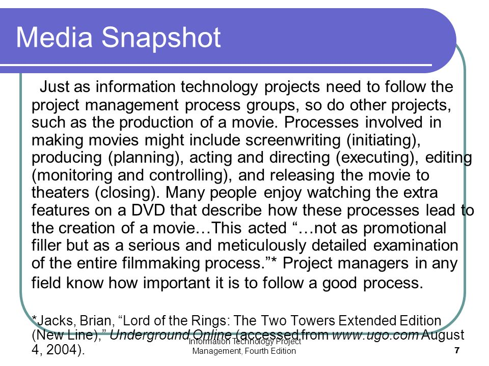 Chapter 3 The Project Management Process Groups A Case Study Ppt