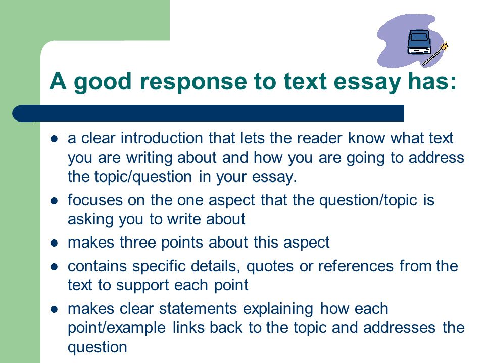 response to text essay