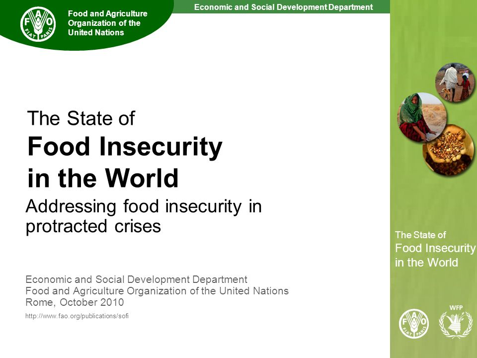 The State of Food Insecurity in the World