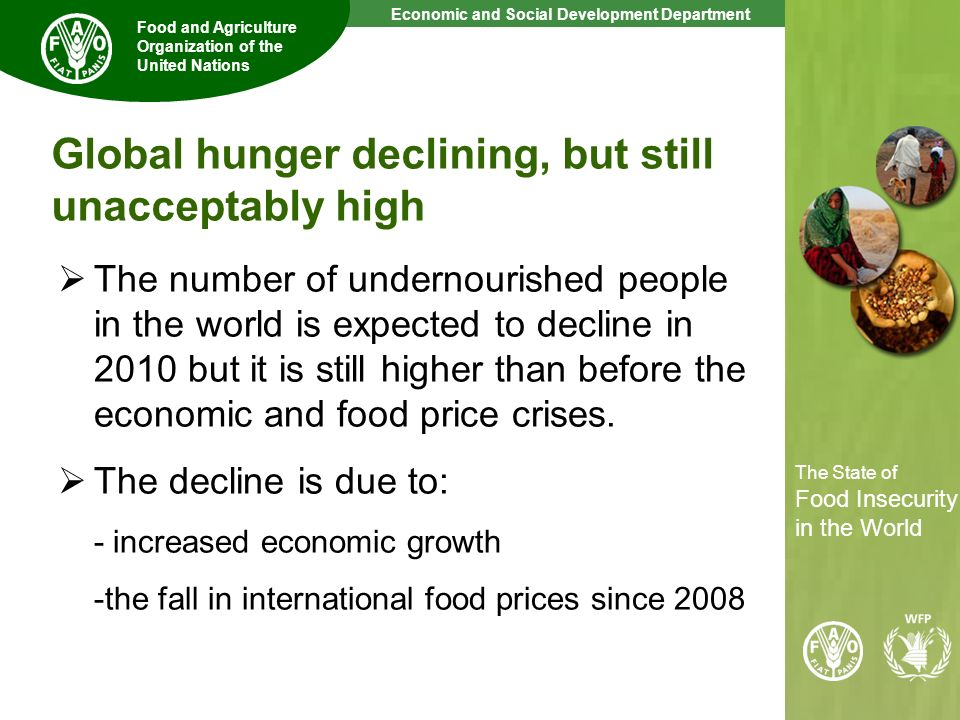 Global hunger declining, but still unacceptably high