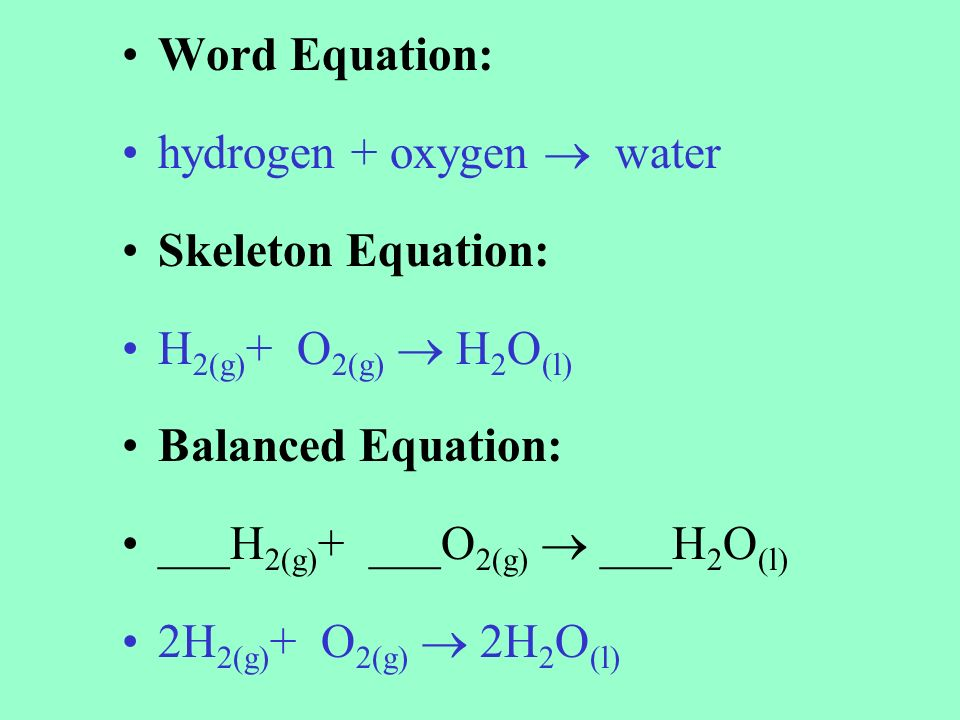 Chemical Equations And Reactions Ppt Video Online Download. 5 Word Equation. Worksheet. Worksheet 1 Word And Skeleton Equations Answers At Clickcart.co