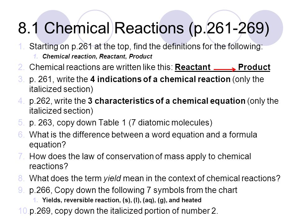 Types Of Chemical Reactions P Ppt Download. 81 Chemical Reactions P. Worksheet. Worksheet Unit 8 Types Of Chemical Reactions At Mspartners.co