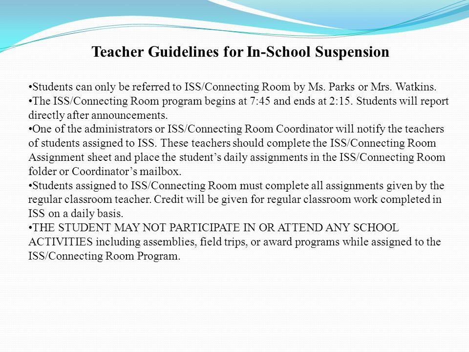 John P Freeman Optional School Ppt Video Online Download. Teacher Guidelines For Inschool Suspension. Worksheet. In School Suspension Worksheets At Mspartners.co